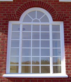 Legacy Palladian Window with bullnose sill.