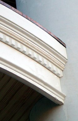 PVC curved mouldings.